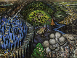 1943, oil on plywood, 125 x 205 cm, Ela Sefer Collection