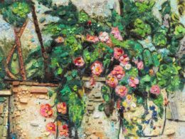 Metachrome: Still Life with Begonias, after Paul Cézanne