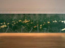 Jorinde Voigt's wall drawing at the Menil Drawing Institute, Houston